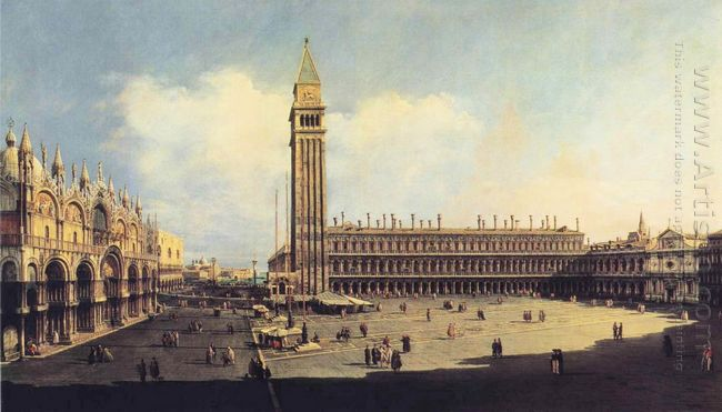 San Marco Square From The Clock Tower Facing The Procuratie Nuov