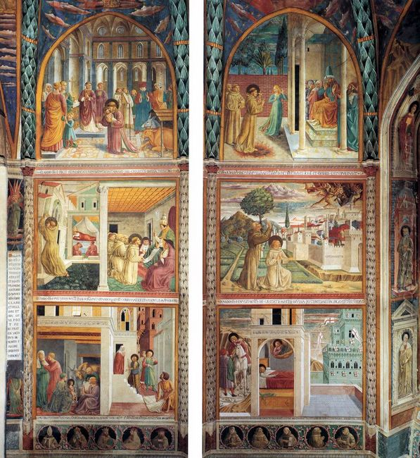 Scenes From The Life Of St Francis North Wall