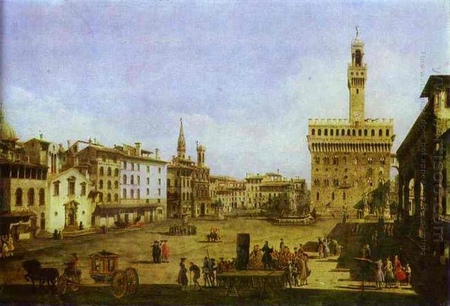 Signoria Square In Florence