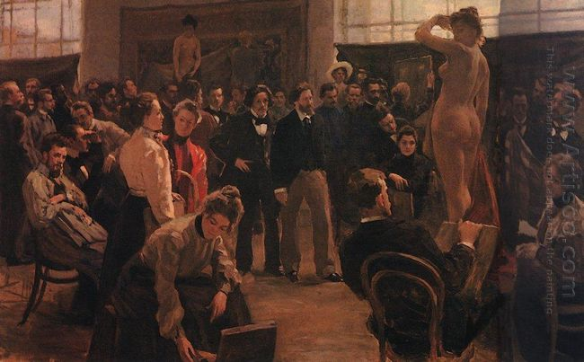 Statement Of The Model In The Studio Of Ilya Repin Academy Of Ar