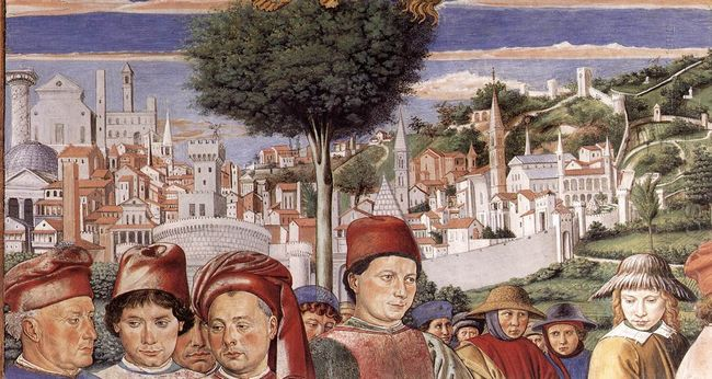St Augustine Departing For Milan Detail 1465 1