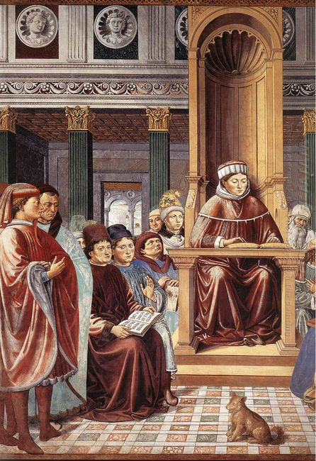 St Augustine Reading Rhetoric And Philosophy At The School Of Ro