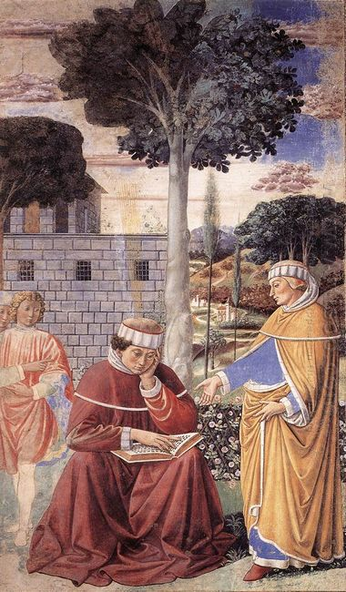 St Augustine Reading The Epistle Of St Paul 1465