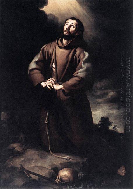 St Francis Of Assisi At Prayer 1650