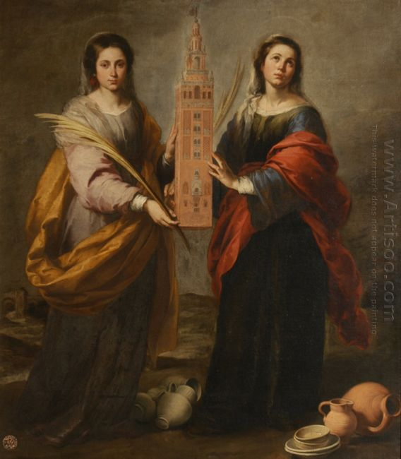 St Justina And St Rufina 1675