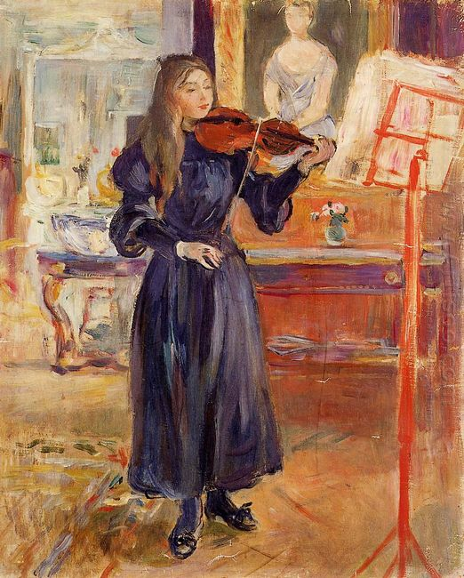 Studying The Violin 1893