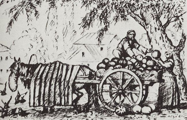 Tatar Who Sells Watermelons 1924
