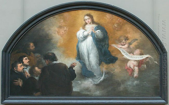 The Apparition Of The Immaculate Virgin To Six Characters 1665