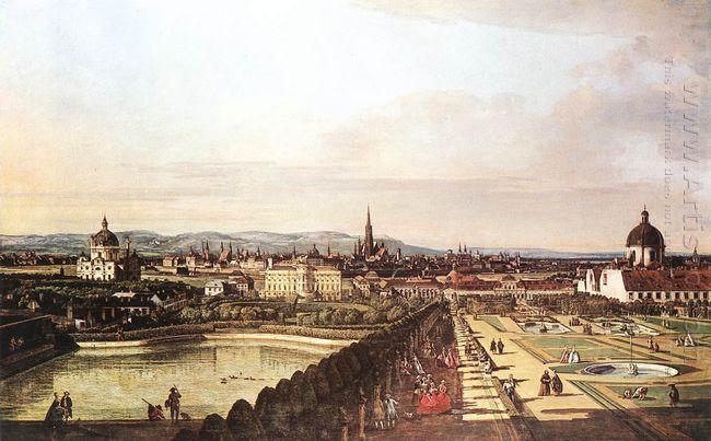 The Belvedere From Gesehen Vienna 1759