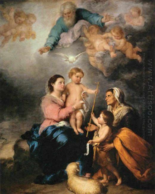The Holy Family The Seville Virgin 1670