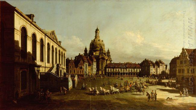 The Neuer Marktplatz In Dresden 1747