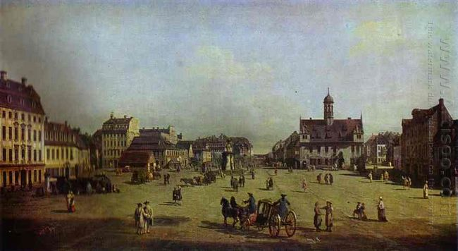 The New Market Square In Dresden 1750