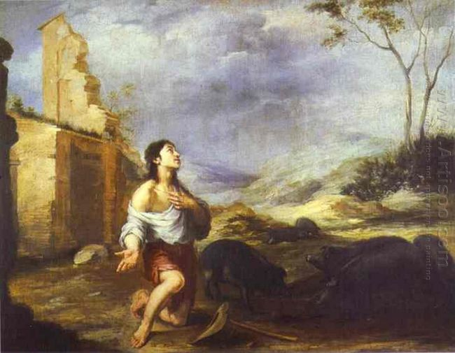 The Prodigal Son Feeding Swine 1660