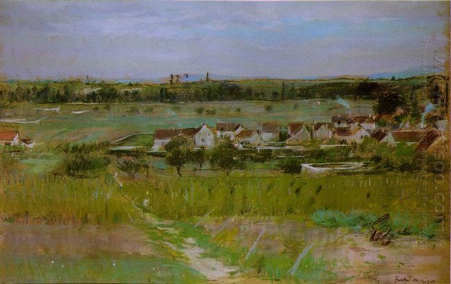 The Village Of Maurecourt 1873