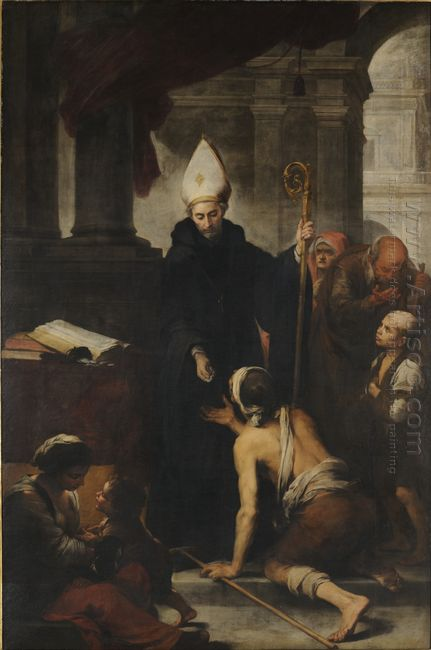 Thomas Of Villanova Giving Alms To The Poors 1678