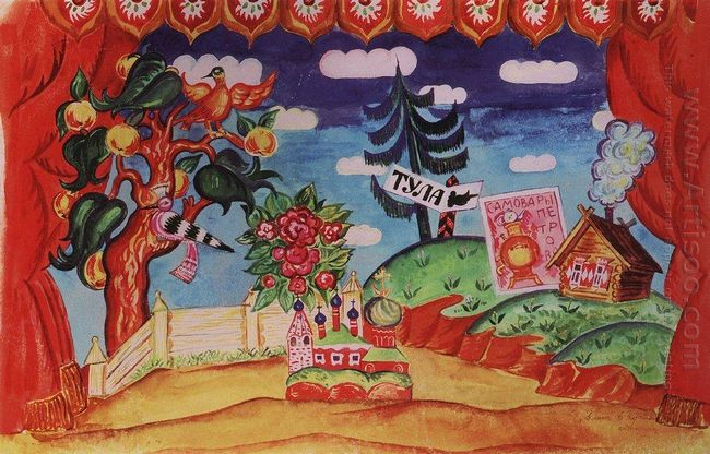 Tula Stage Design For E Zamyatin S Play The Flea 1925