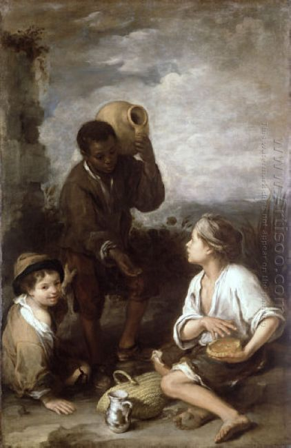 Two Peasant Boys And A Negro Boy 1660
