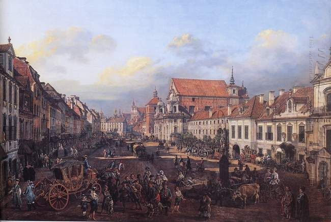 View Of Cracow Suburb Leading To The Castle Square 1774