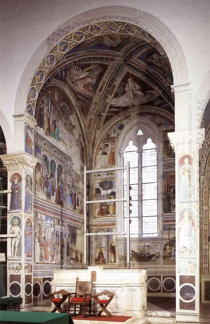 View Of The Apsidal Chapel Of Sant Agostino Cycle Of St Augustin