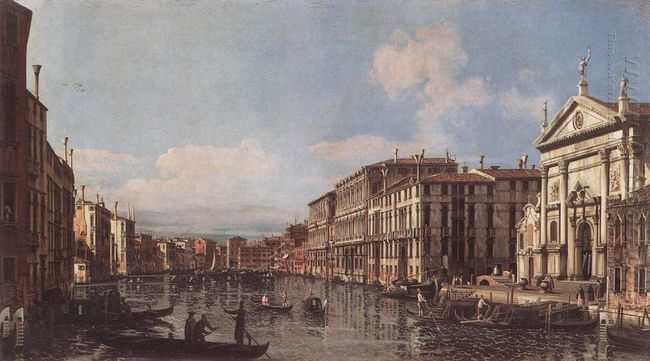 View Of The Grand Canal At San Stae 1738