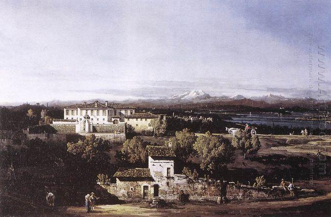 View Of The Villa Cagnola At Gazzada Nevarese 1744