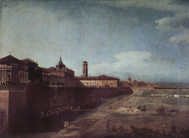 View Of Turin From The Gardens Of The Palazzo Reale 1745 1