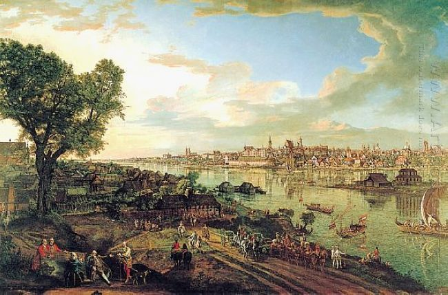 View Of Warsaw From Praga 1770 1
