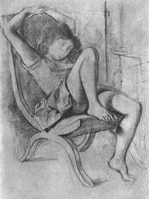 Young Girl Asleep 1994