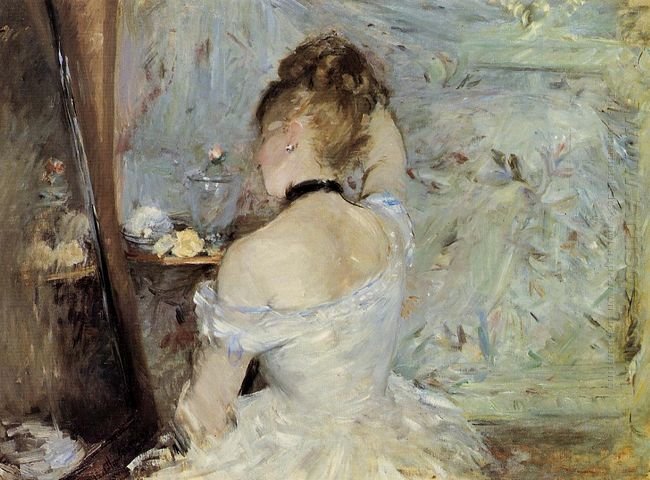 Young Woman At The Mirror