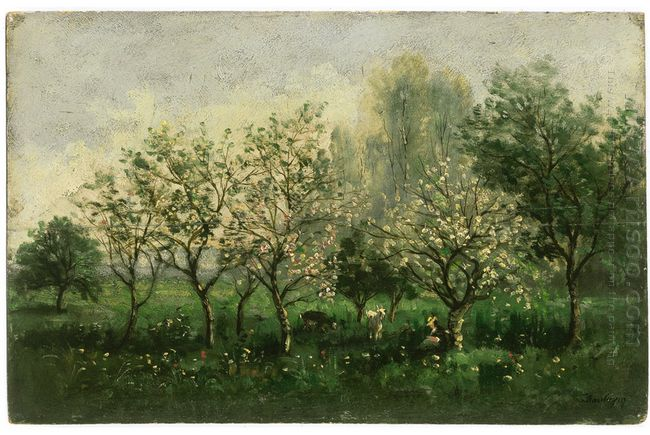 Apple Trees In Blossom 1862