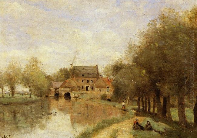 Arleux Du Nord The Drocourt Mill On The Sensee 1871