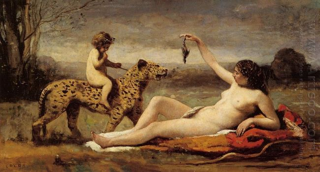 Bacchante With A Panther 1860
