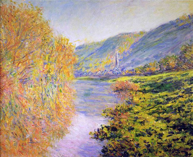 Banks Of The Seine At Jeufosse Autumn