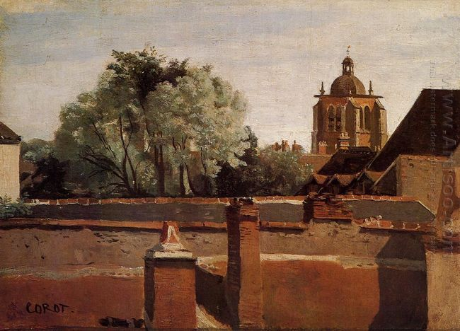 Bell Tower Of The Church Of Saint Paterne At Orleans 1845