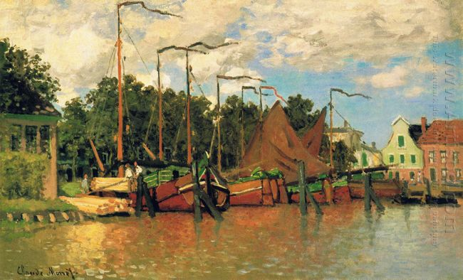 Boats At Zaandam