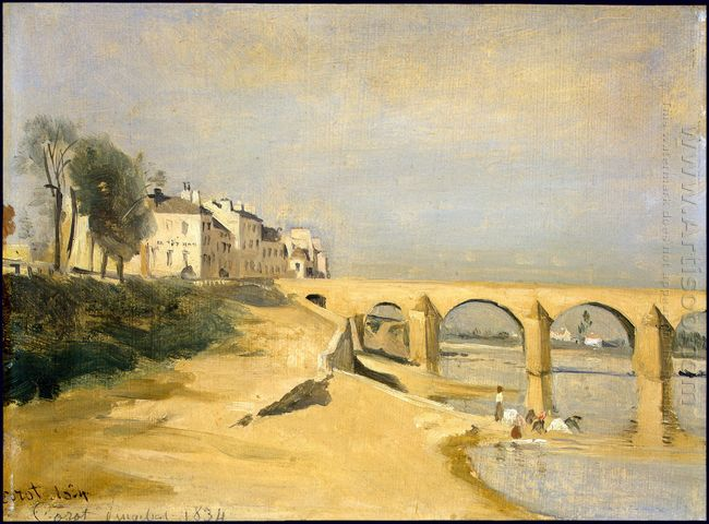 Bridge On The Saône River At Mâcon 1835