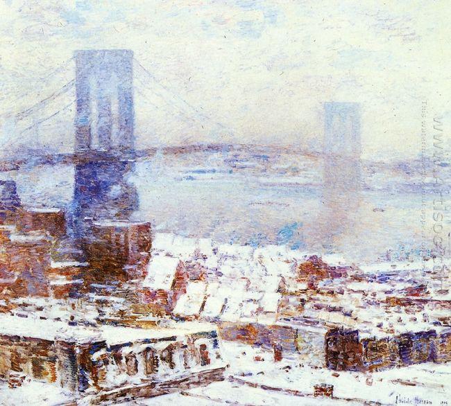 Brooklyn Bridge In Winter