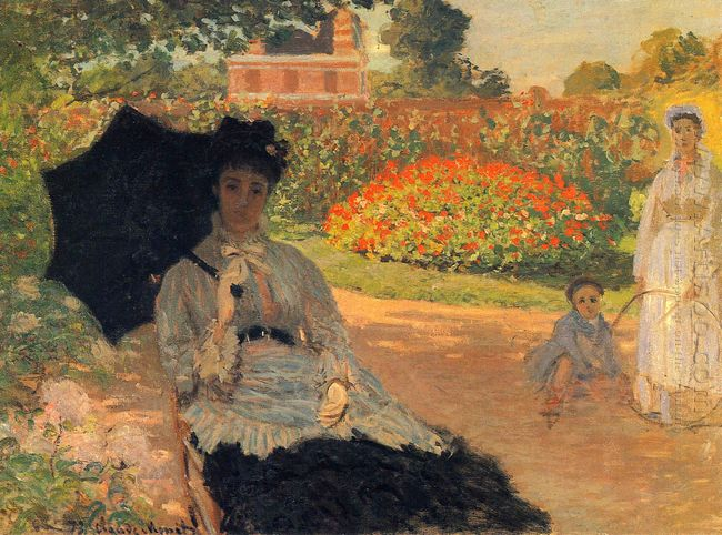 Camille Monet In The Garden
