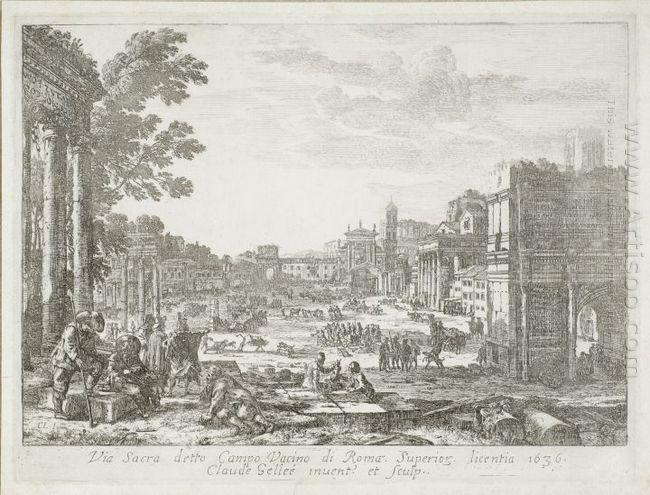 Campo Vaccino Forum Romanum 1636