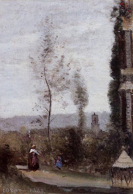 Coulommiers The Garden Of M Preschez 1868