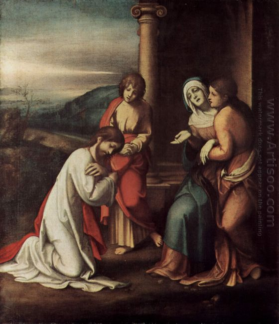 Departure Of Christ From Mary With Mary And Martha The Sisters O