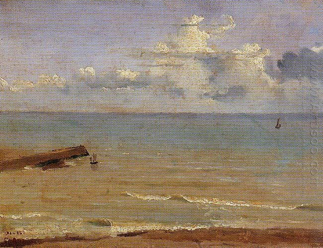 Dieppe End Of A Pier And The Sea 1822