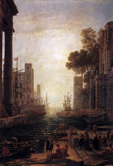 Embarkation Of St Paula Romana At Ostia