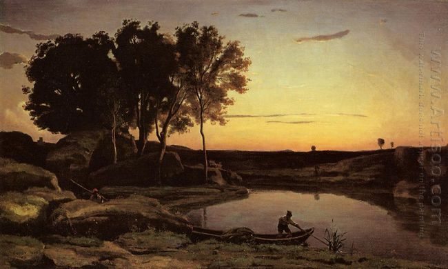 Evening Landscape The Ferryman Evening 1839