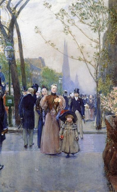 Fifth Avenue Aka Sunday On Fifth Avenue 1891
