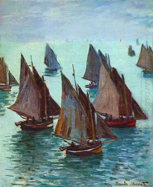 Fishing Boats Calm Sea