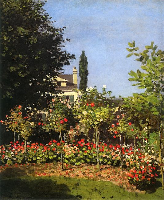 Garden In Bloom At Sainte Addresse