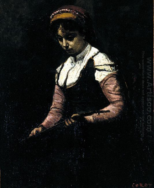 Girl With Mandolin 1865