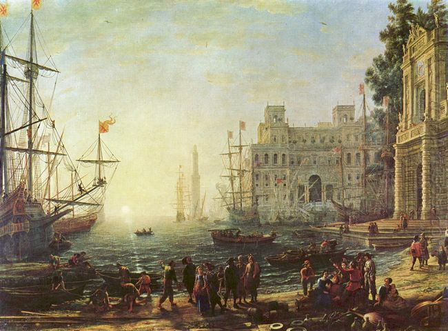 Harbour With Villa Medici 1637