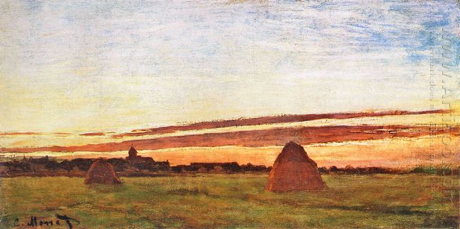 Haystacks At Chailly 1865